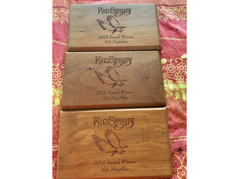 Awards from Kidspirit Online, a publication in New York (2012, 2013, 2014)