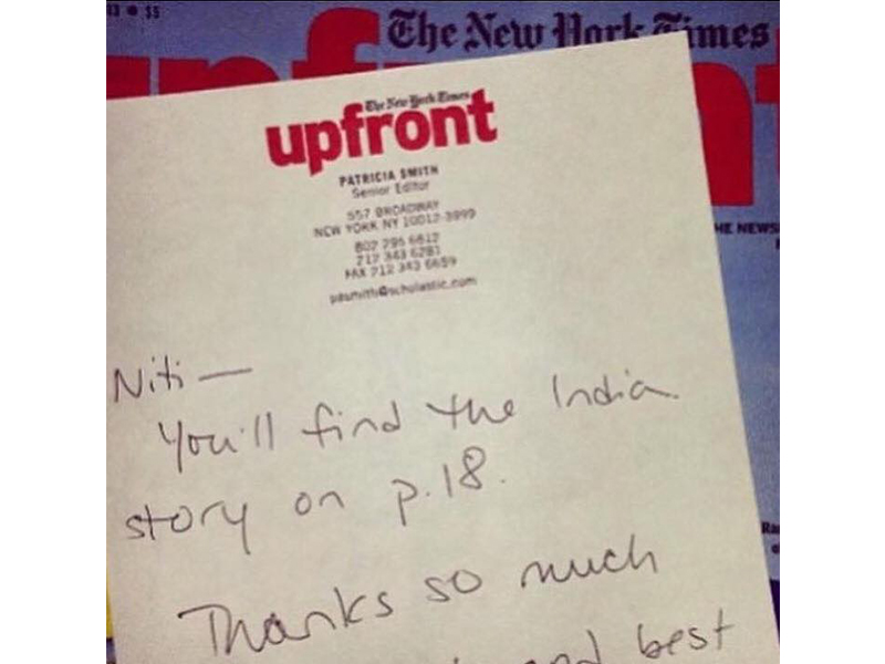 "Getting the much awaited ""You've been published!"" letter from The New York Times Upfront (2014)"