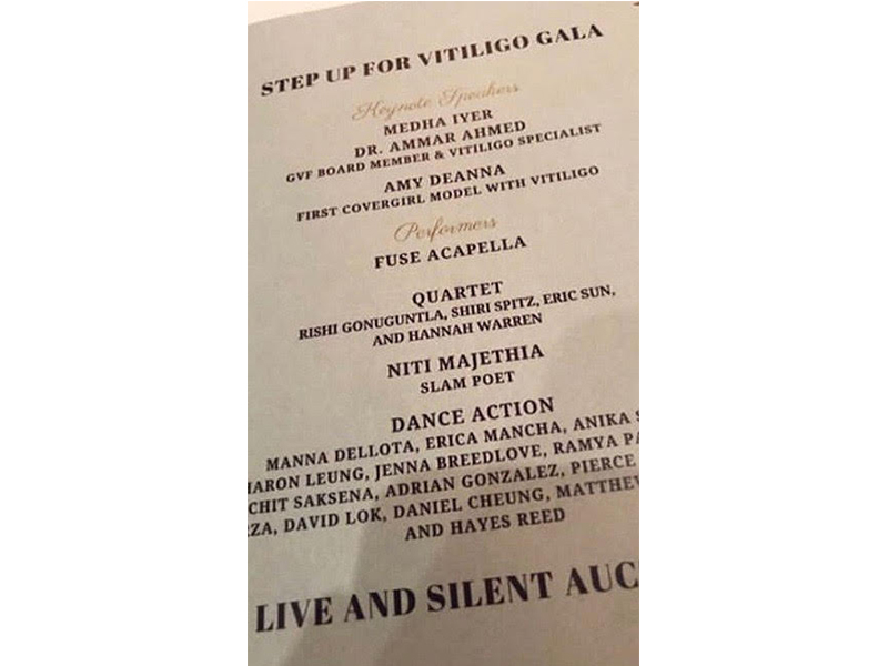 Speaking at the Step Up For Vitiligo Gala in Austin, Texas (2018)