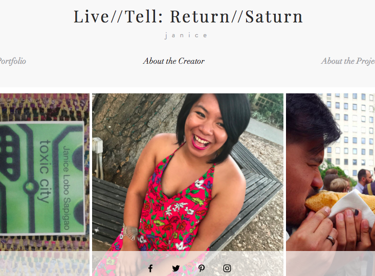 livetotell:return to saturnPublished by Janice Sapigao - For Janice's whole project/gift, click HEREI'm blessed to know this woman and call her friend, and I dare say one of my life and art's greatest teachers thus far. She taught me the power in our softness. She taught me how to speak up without talking over the ones we respect and love. She taught me how to return. For Janice's 30th birthday this year, her own Saturn Return, she and I caught up over the phone a few days before and she shared with me her upcoming project,