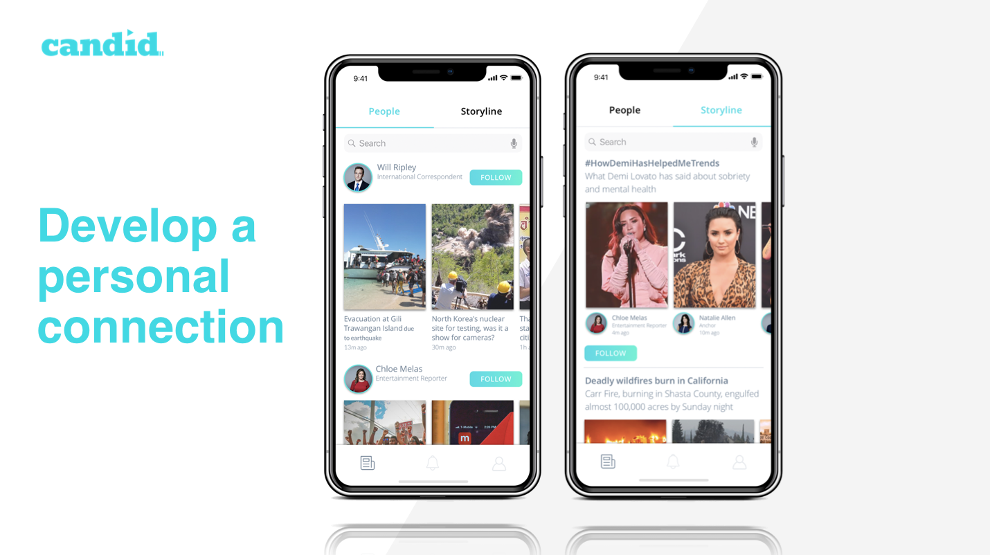 With Candid you are able to develop a personal connection with our trusted people at CNN, real time one-on-ones with the important faces of the news world.