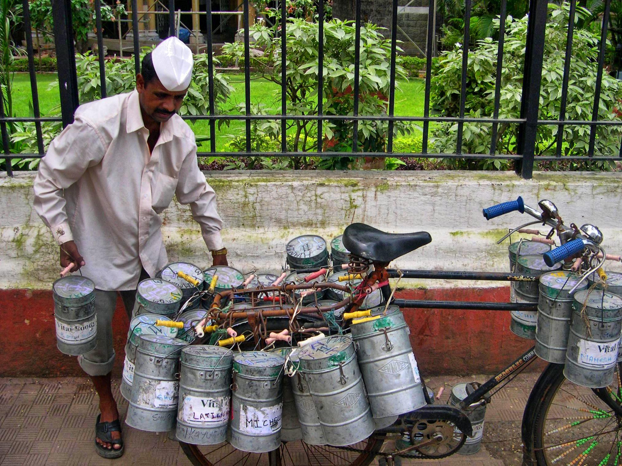 A Dabbawalla in Mumbai