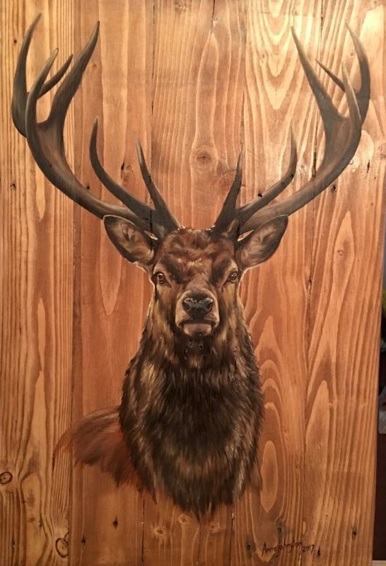 Original Oil on Wood -