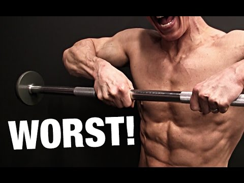 Upright Rows:  A commonly performed exercise to build your shoulder, traps and upper back muscles. However, in my opinion this exercise causes more grief than its worth. It puts unnecessary strain on your shoulder girdle and is also a movement that encourages more weight than is needed, no one enjoys seeing that guy grunting and dancing like a salmon to get the weight up.  If you want to improve upper back strength or build up your delts stick to overhead pressing, carries and deadlifts.