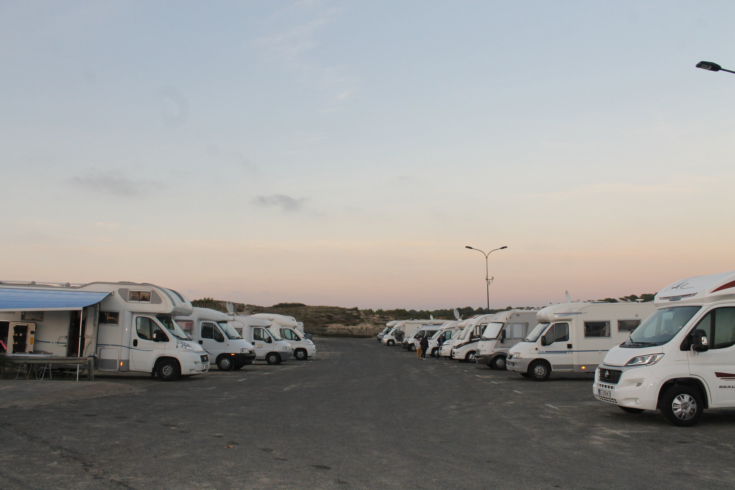 Campervan campsite in Cabreton, limited facilities but great location