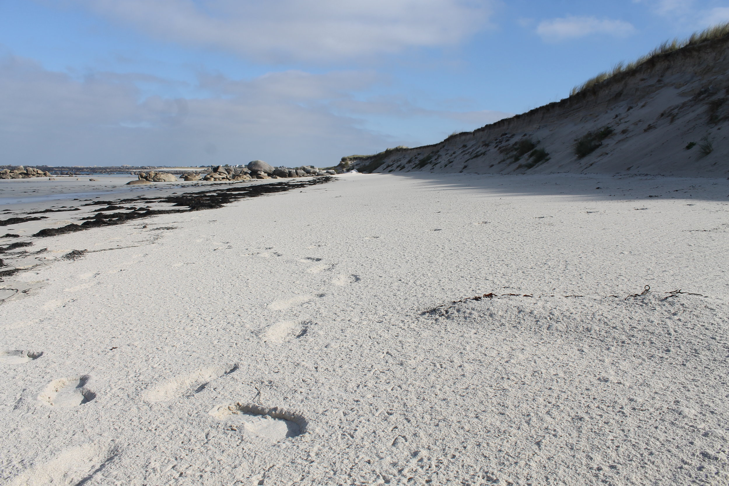 Pristine white sands