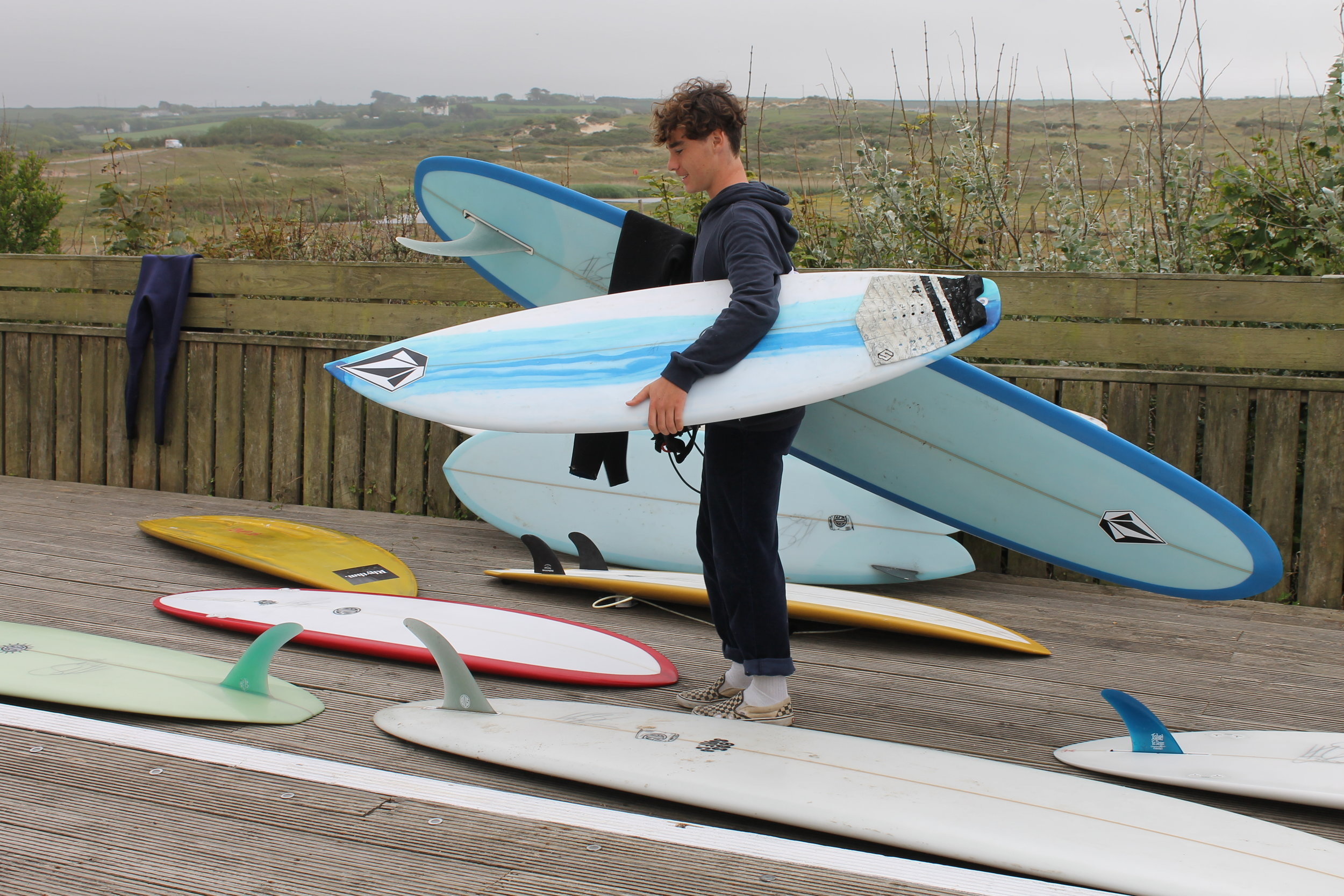 Team rider  huck_new  spoilt for choice on what board to ride