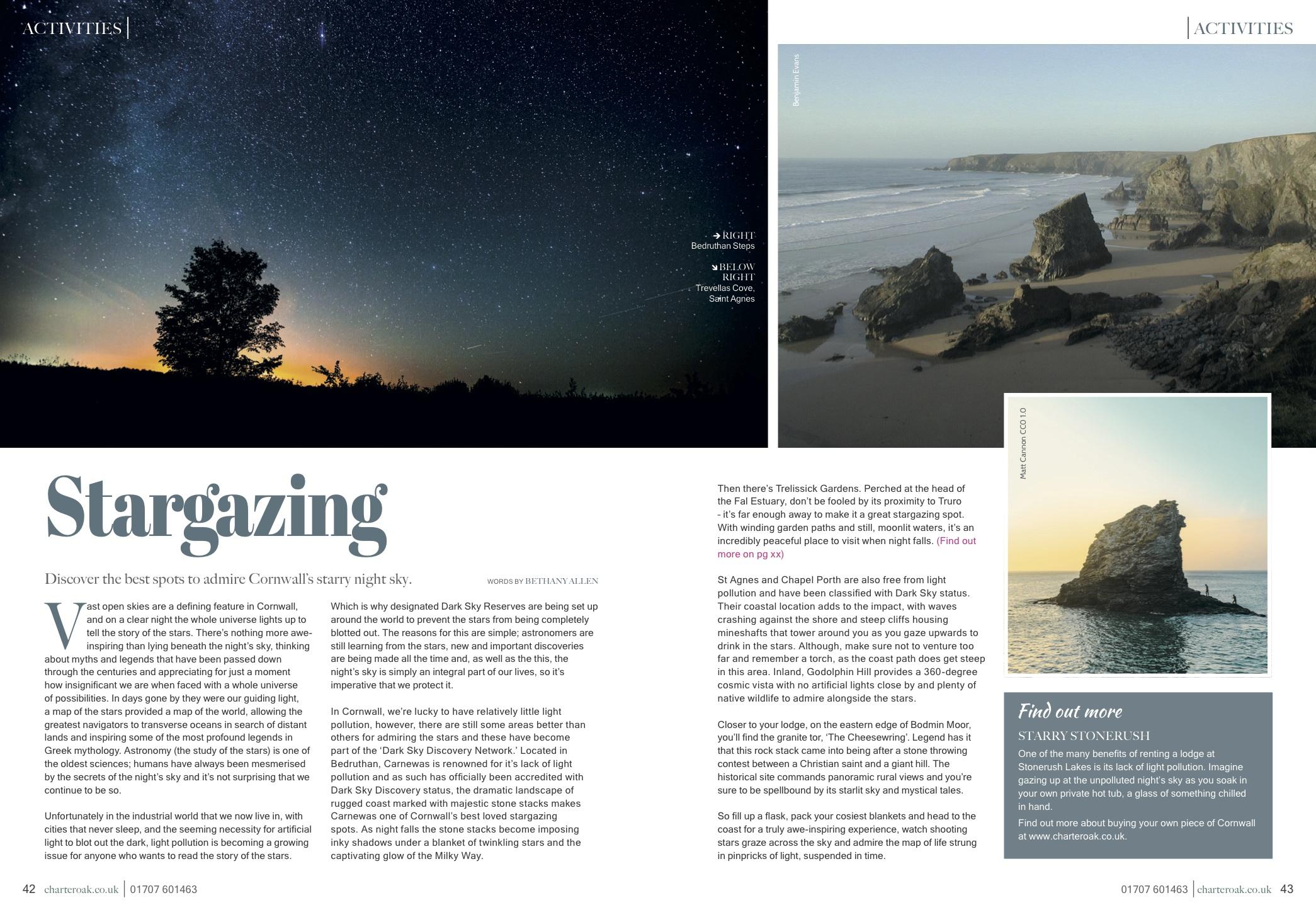 Stargazing - For Charteroak magazine