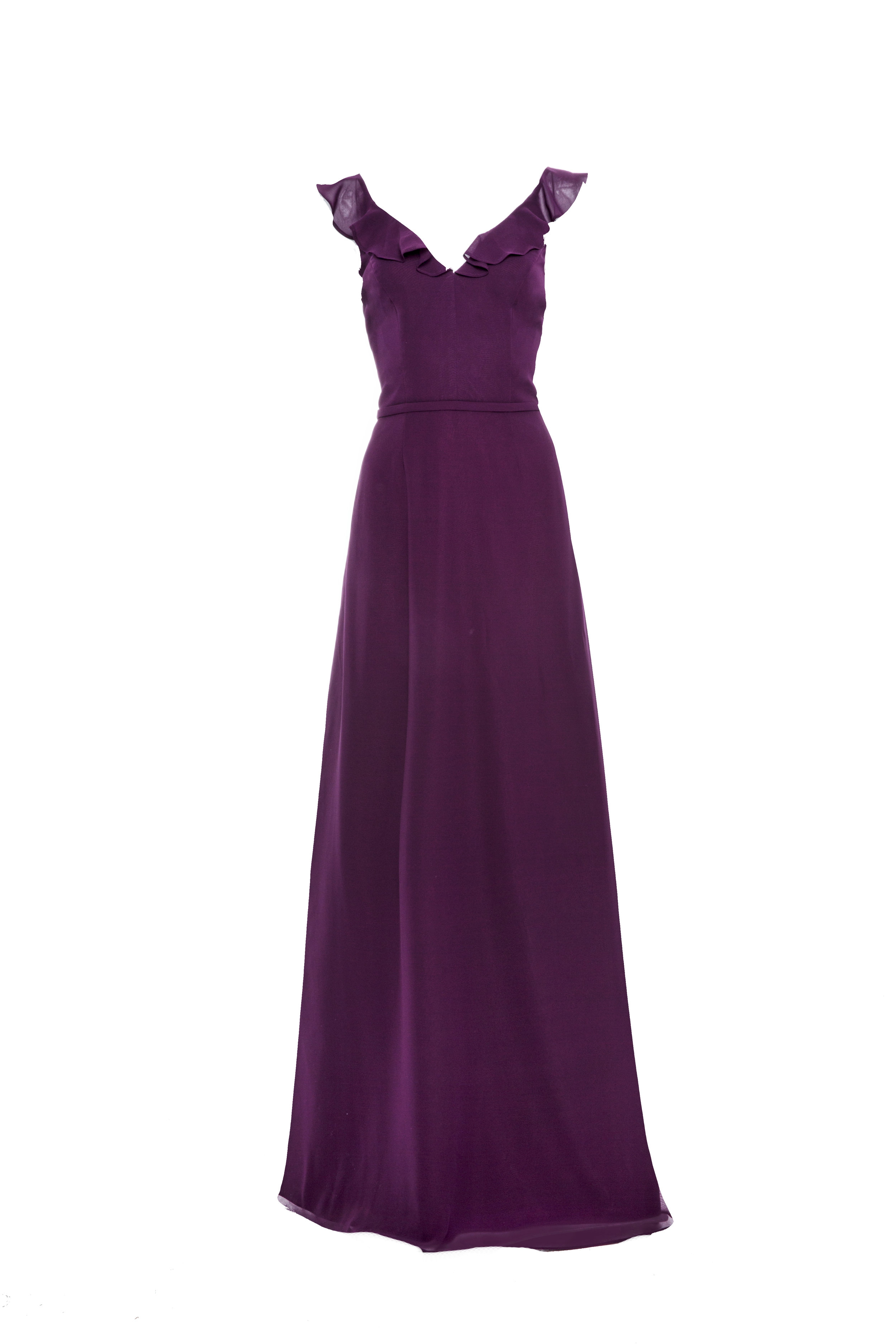 Monique Lhuillier 450426 Plum Chiffon