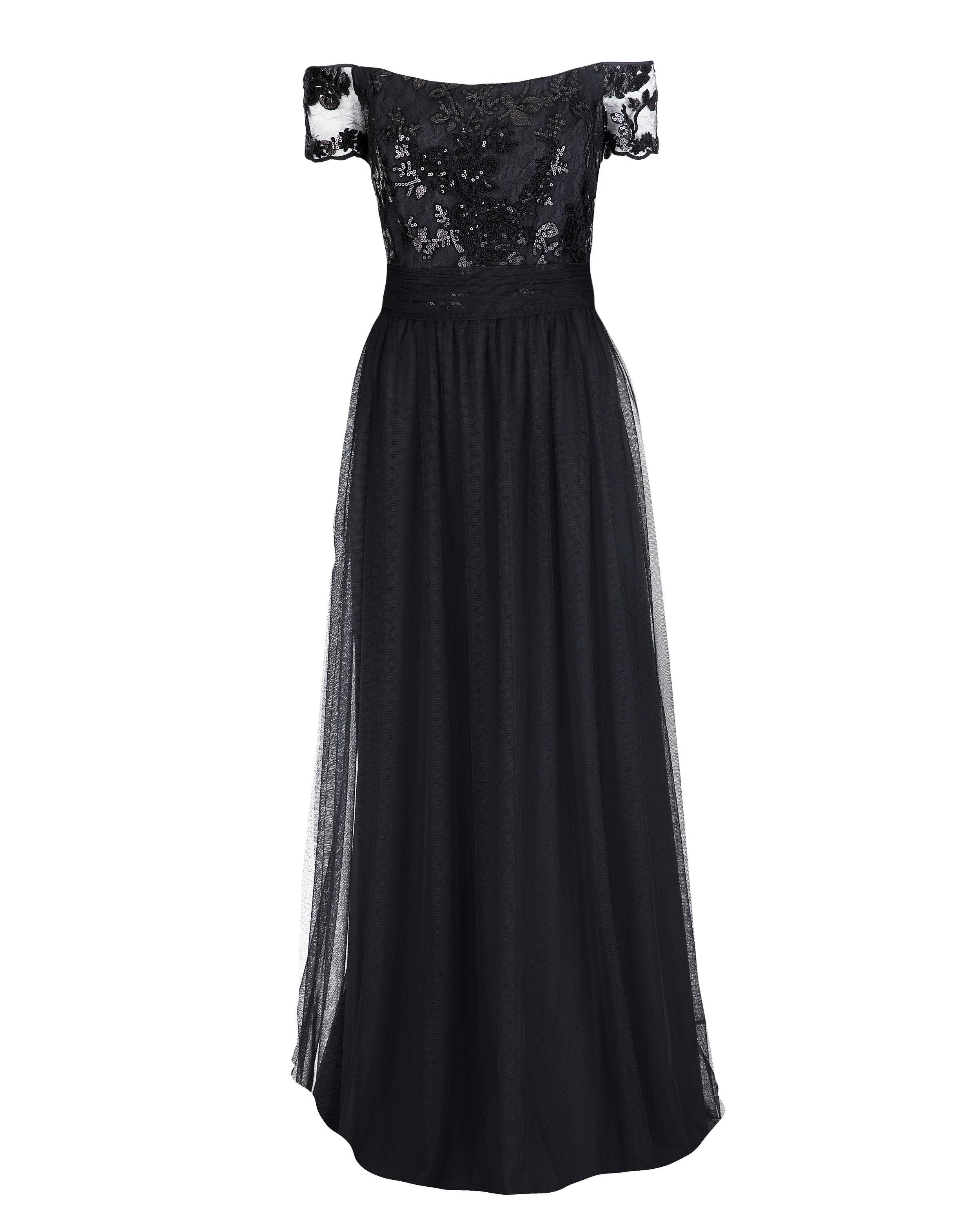 Copy of Amsale Ireland GB039 Black Sequin Lace