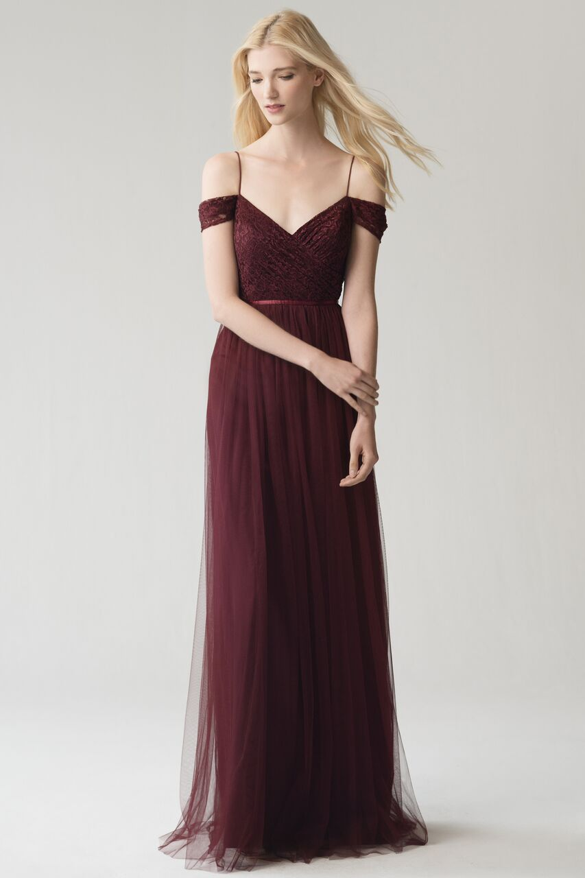 Jenny Yoo Lyla Cabernet Lace and Tulle $405