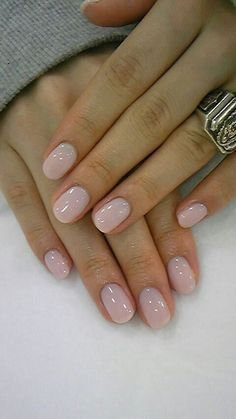 Wedding White - Ask for 'Rounded' shape with just 2 coats of OPI 'Funny Bunny' and a high gloss top coat