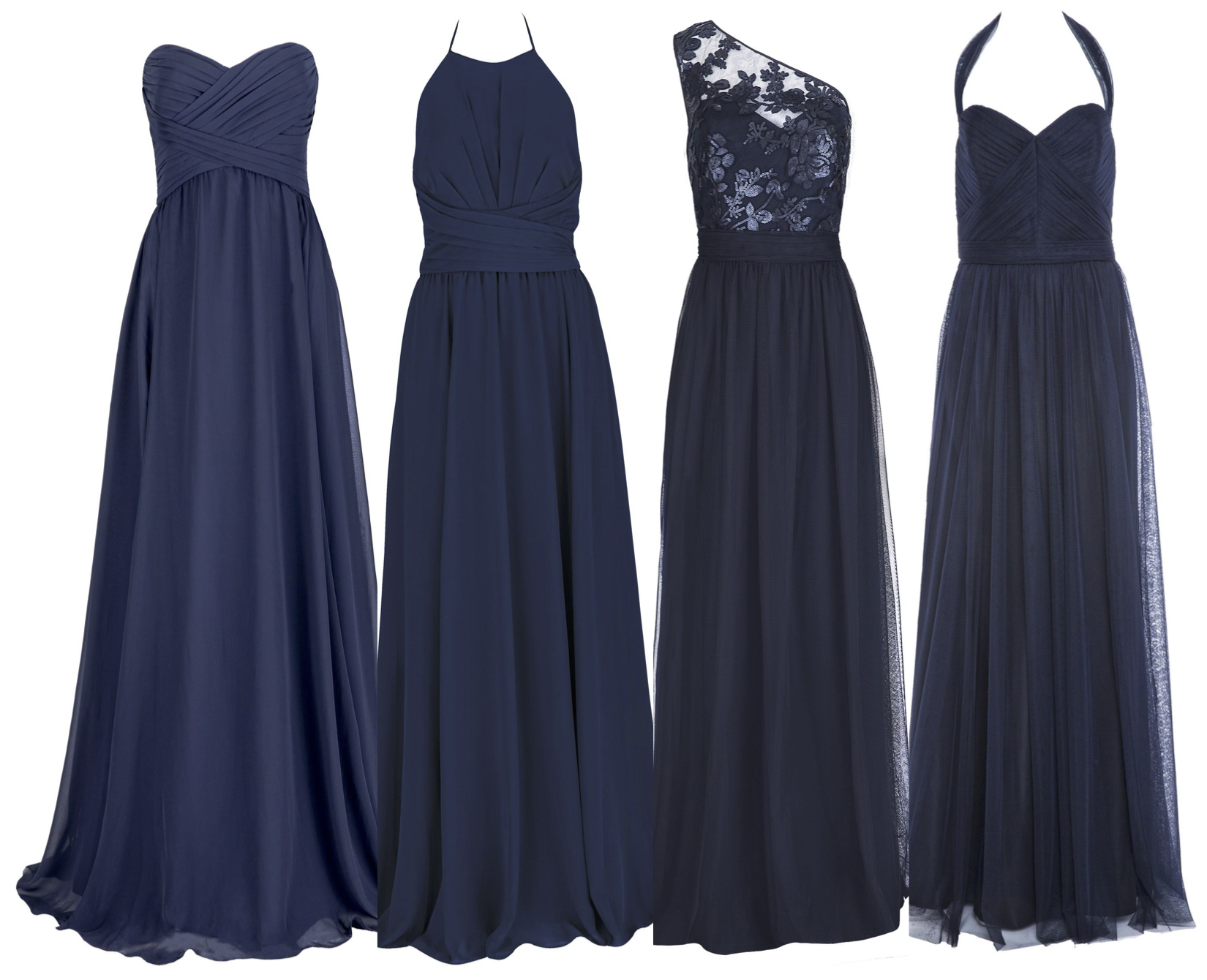 Same tone, different fabrics - Amsale from $380