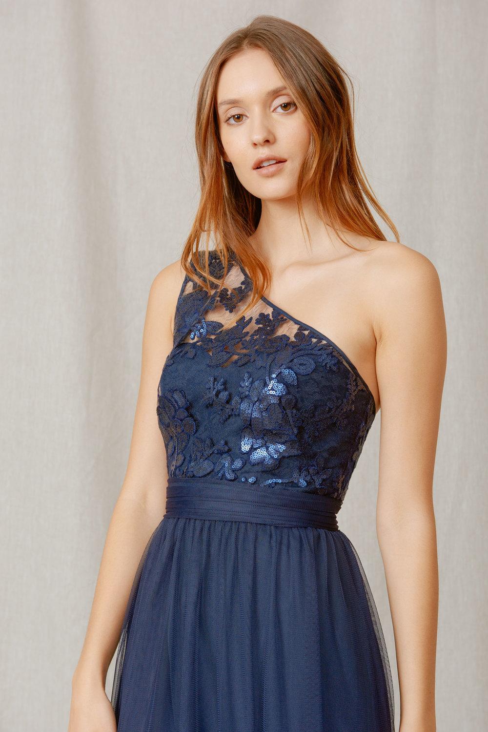 Ashlynn amsale ashlynn gb040 sequin lace — the bridesmaid studio