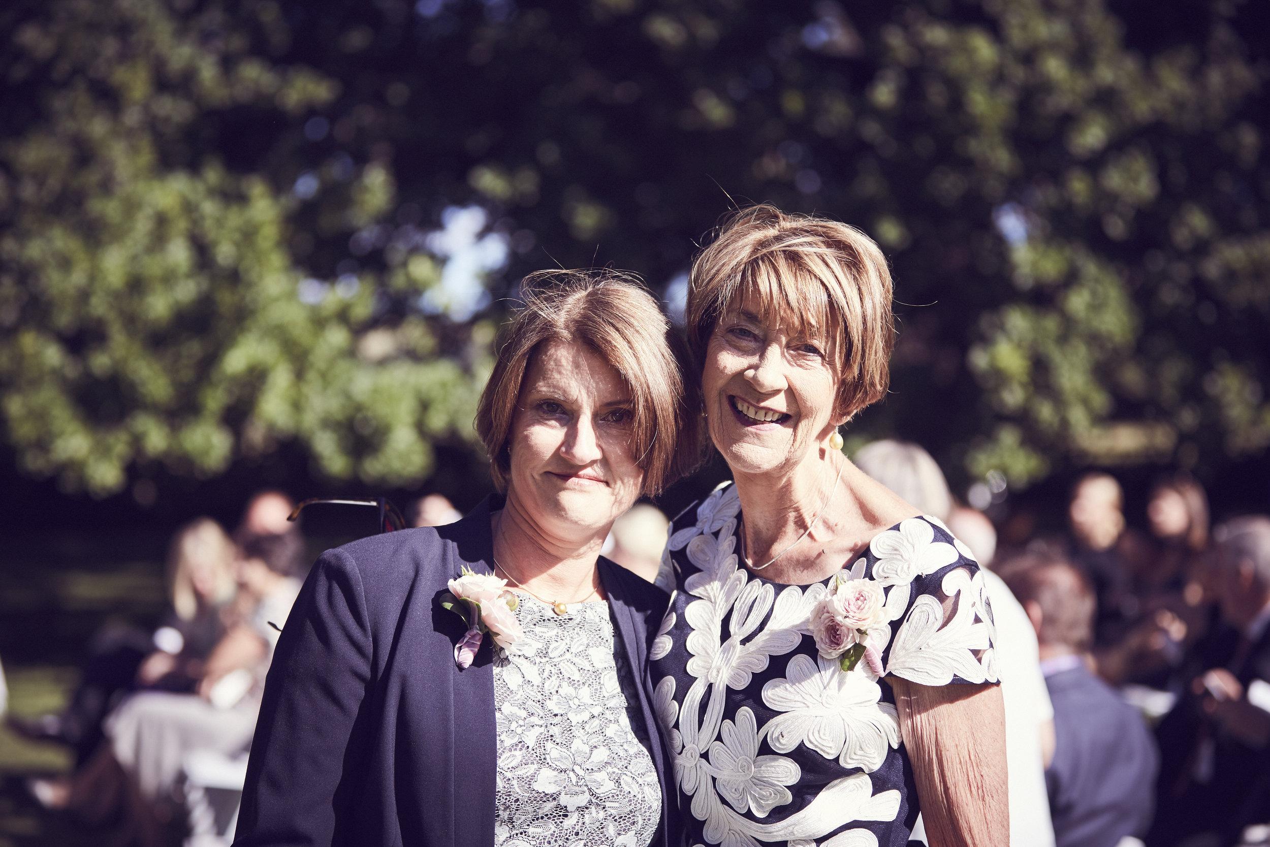 My mum Jane (left ) and Jeremy's mum Paula on our wedding day.