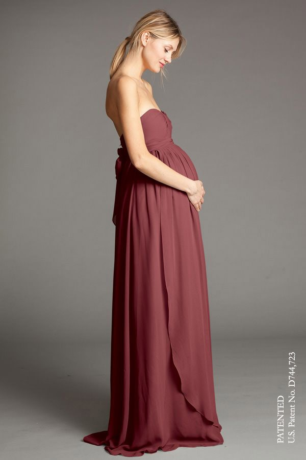 Cerise - Luxe ChiffonShown in Cinnamon Rose