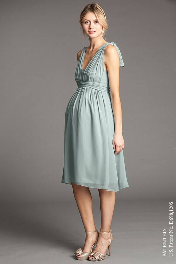 Delphine - Luxe ChiffonShown in Morning Mist