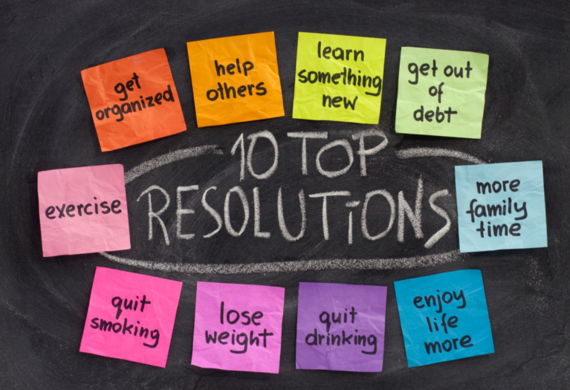 Most common resolutions. Picture source: Huffington Post