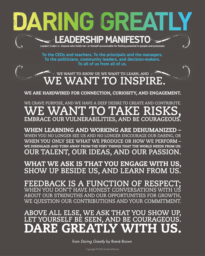 Picture source: Brene Brown, Daring Greatly