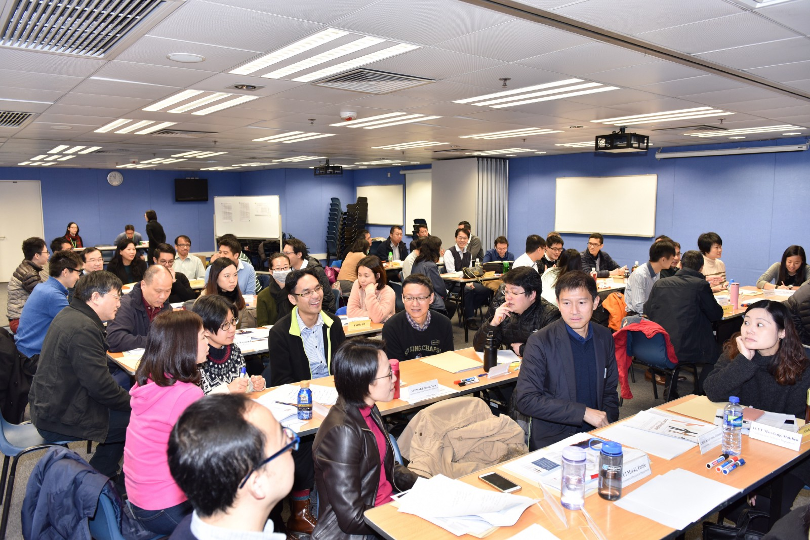Hong Kong government officials participating in a session on how to meaningfully and effectively involve the public in decision-making.