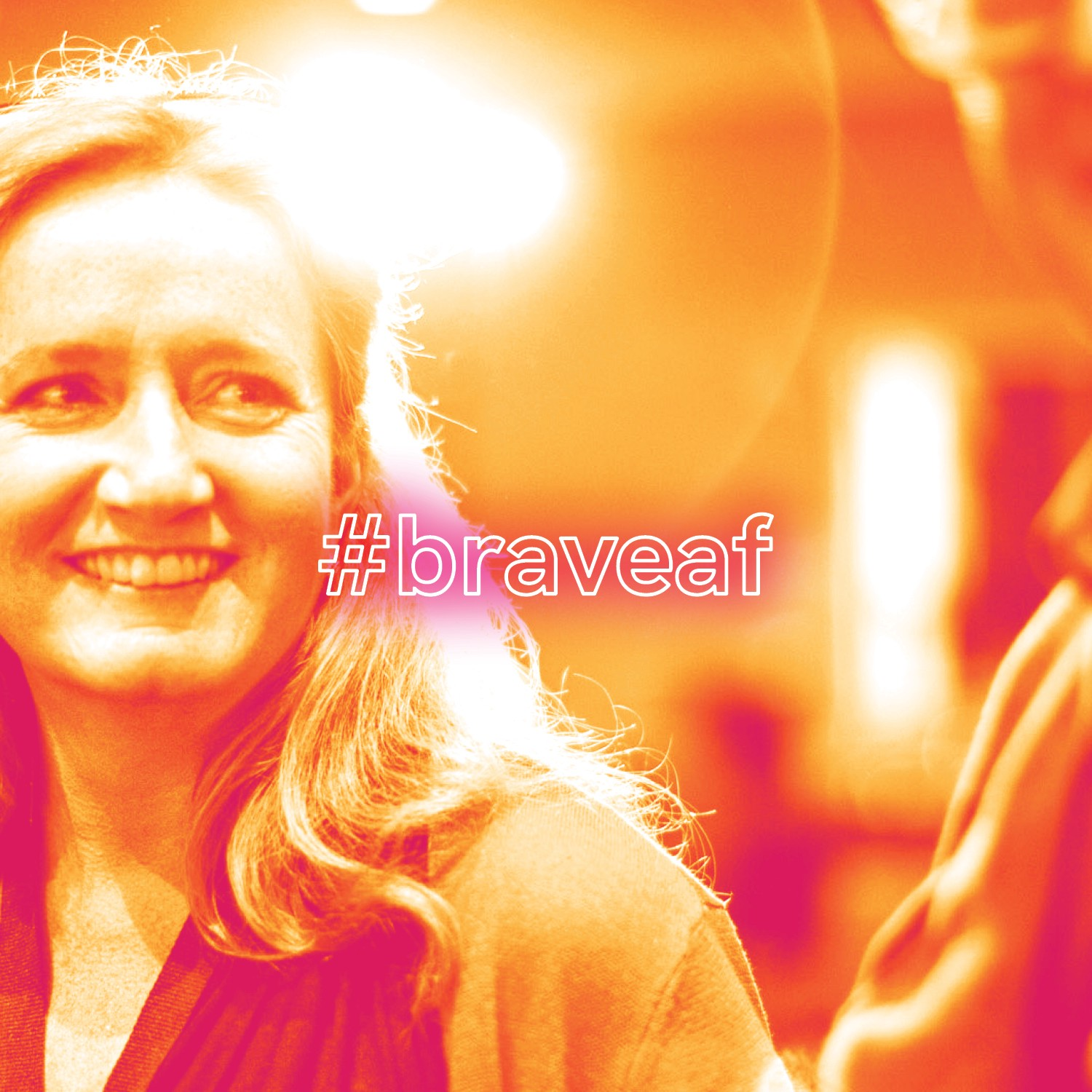 #braveaf hashtag we created to draw attention to upcoming events we are hosting at bravelylead.com