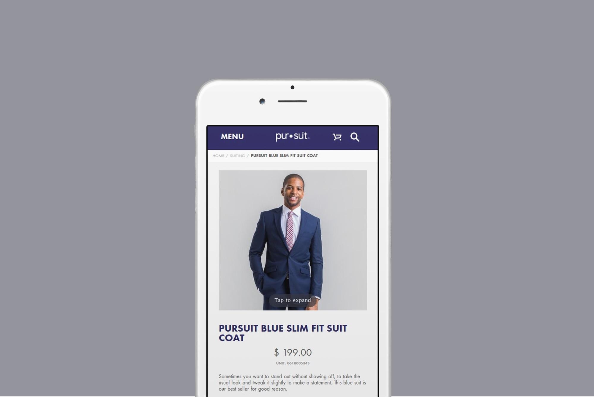 Pursuit Website Design