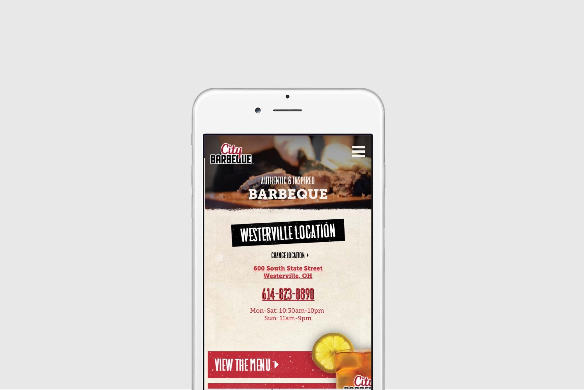 City BBQ Website Design