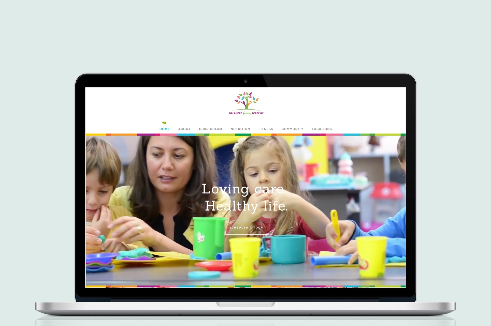Balanced Family Academy Website Design