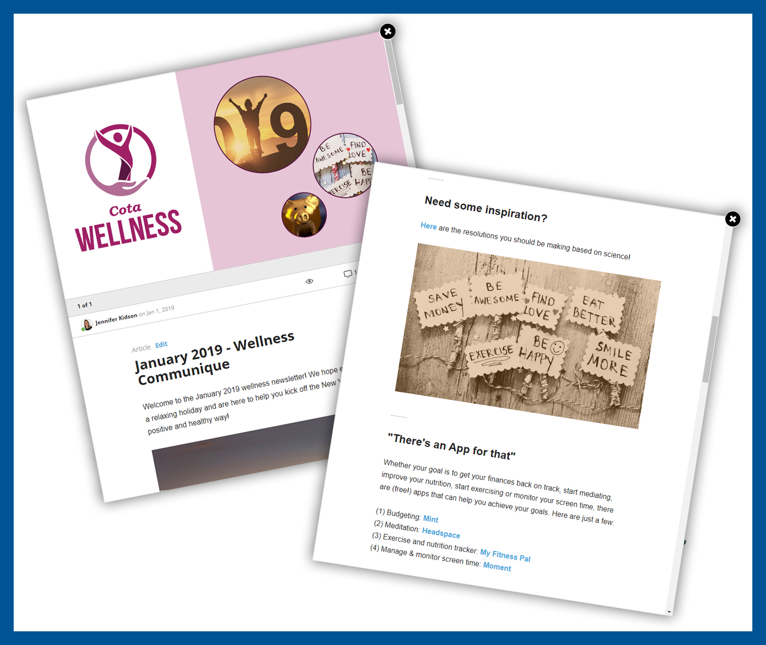 RECOGNITION AND WELLNESS E-NEWSLETTER
