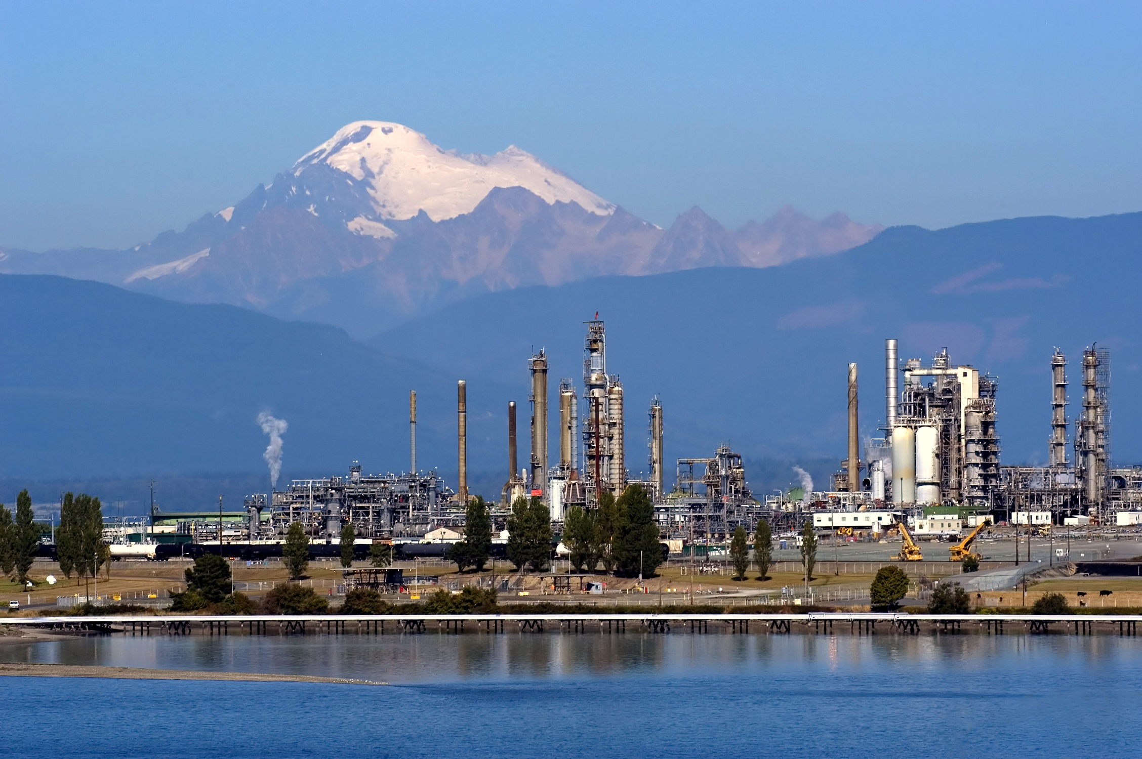Washington State is the principal refining center for the Pacific Northwest