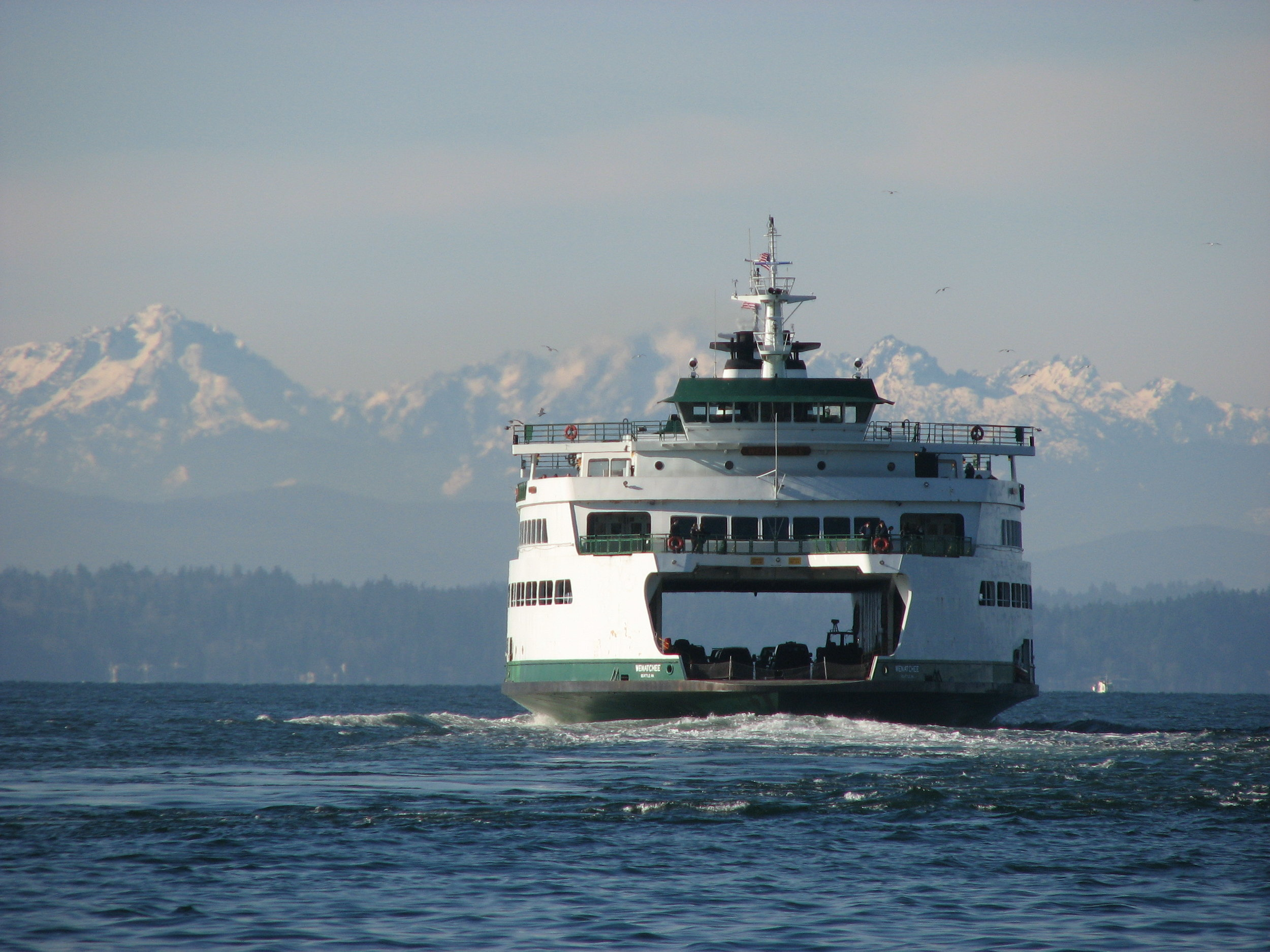Washington State Ferries operates the largest ferry system in the United States. Twenty-two ferries cross Puget Sound and its inland waterways, carrying more than 22 million passengers to 20 different ports of call.