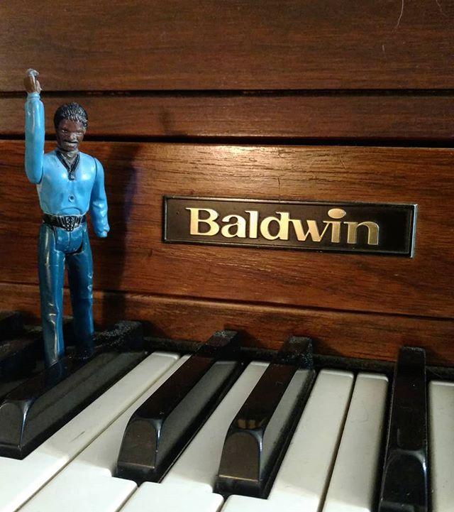 Lando approves!! He needs more friends for his adventures!  #adventuresoflando #starwars #music #piano #baldwin #art #stevesharonart #photography