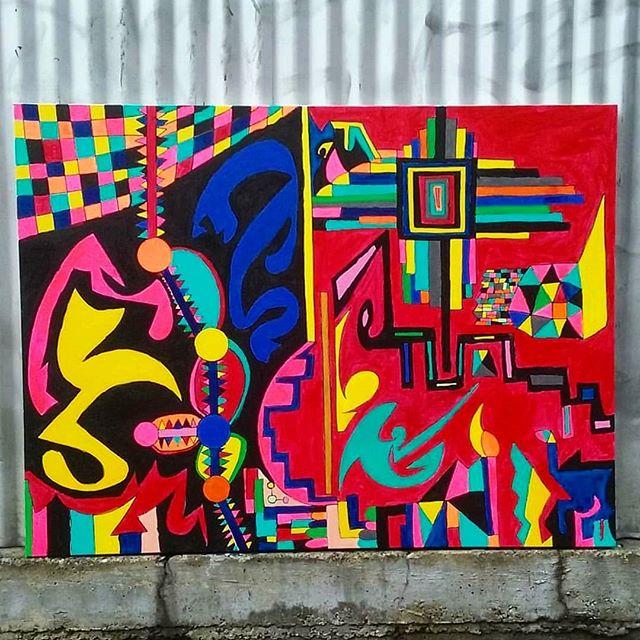 "Living In A Neutron Dance 48"" x 36""  Acrylic on Canvas For Sale + Free shipping!  #art #painting #acrylicpainting #abstractpainting #artshow #arttherapy #design #interiordesign #style #fashion #artistofinstagram #artofinstagram #visualart #artist #painter #stevesharonart #btv #vt #contemporaryart #abstractartist  #abstractpainter #color #modernart #instaart #outsiderart #instaart #artfinder #artdealer #abstractart"