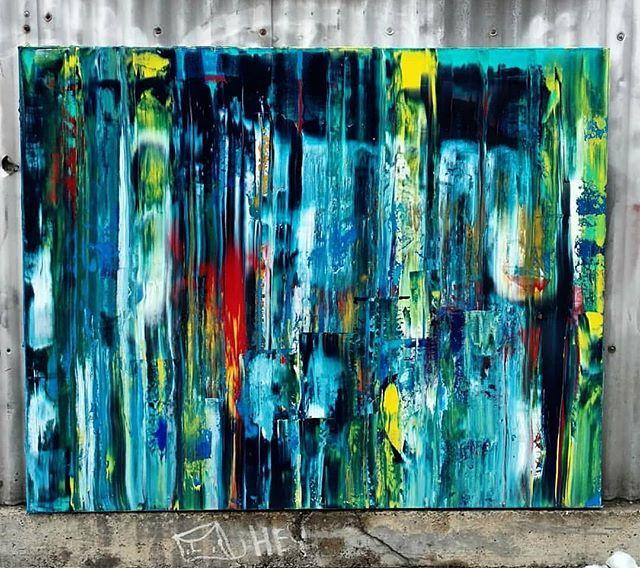 "January Thaw 60"" x 48""  Acrylic on Canvas #art #painting #acrylicpainting #abstractpainting #artshow #arttherapy #design #interiordesign #style #fashion #artistofinstagram #artofinstagram #visualart #artist #painter #stevesharonart #btv #vt #contemporaryart #abstractartist  #abstractpainter #color #modernart #instaart #outsiderart #instaart #artfinder #artdealer #abstractart #paintingoftheday"