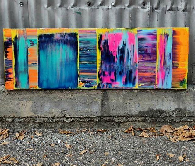"Winter Leaves & Summer Tees 36"" x 12"" Acrylic on Canvas $175.00. Free shipping!! Please contact me if interested!  #art #painting #acrylicpainting #abstractpainting #artshow #arttherapy #design #interiordesign #style #fashion #artistofinstagram #artofinstagram #visualart #artist #painter #stevesharonart #btv #vt #contemporaryart #abstractartist  #abstractpainter #color #modernart #instaart #outsiderart #instaart #artfinder #artdealer #abstractart #paintingoftheday"
