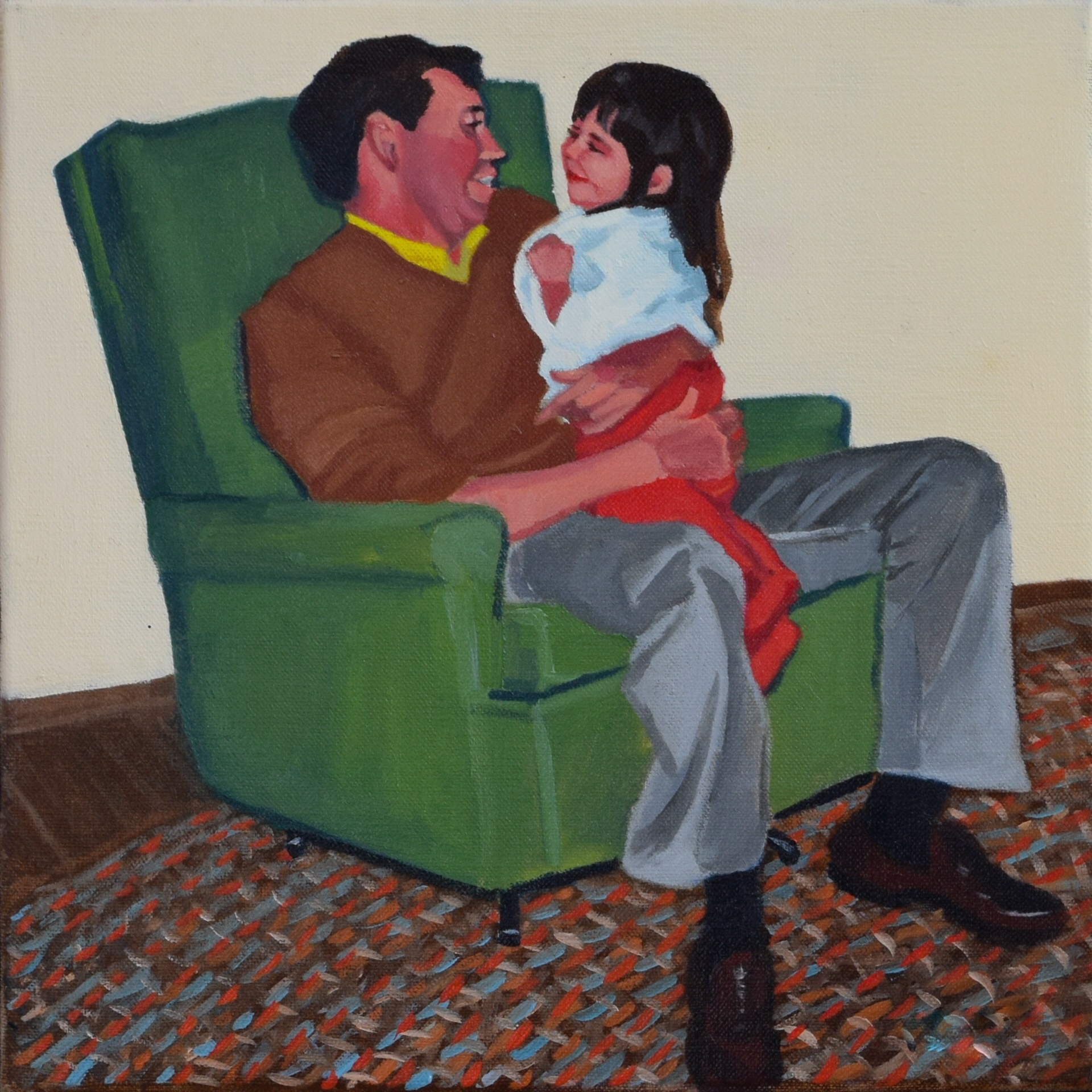 Baker, Margaret-Green Chair-12x12 inch oil on canvas.jpg