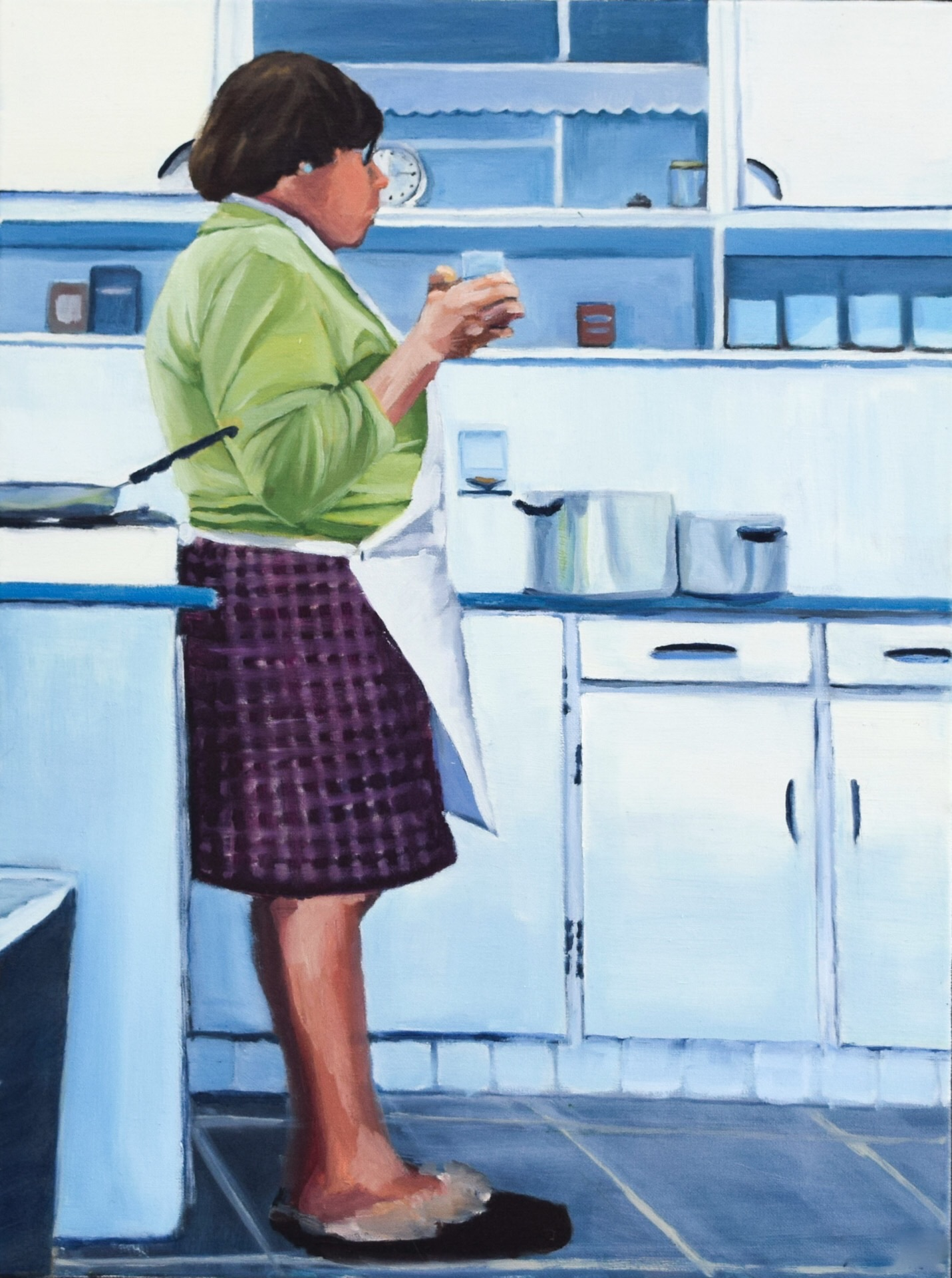 Baker,Margaret-Kitchen Contemplation-24x18 inch oil on canvas.jpg