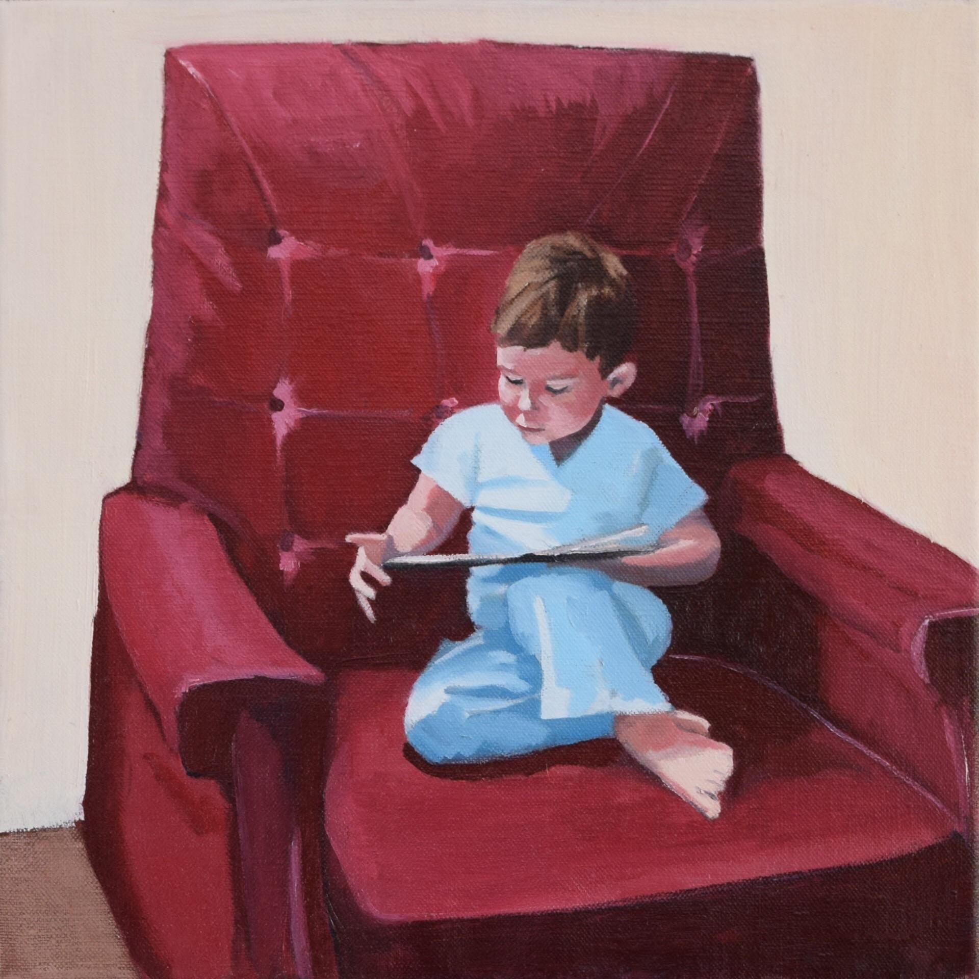 Baker,Margaret-Red Chair-12x12 inch oil on canvas.jpg