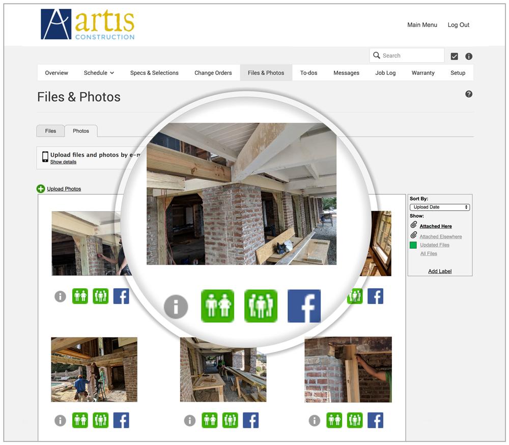 Document visual progress with daily photo uploads.