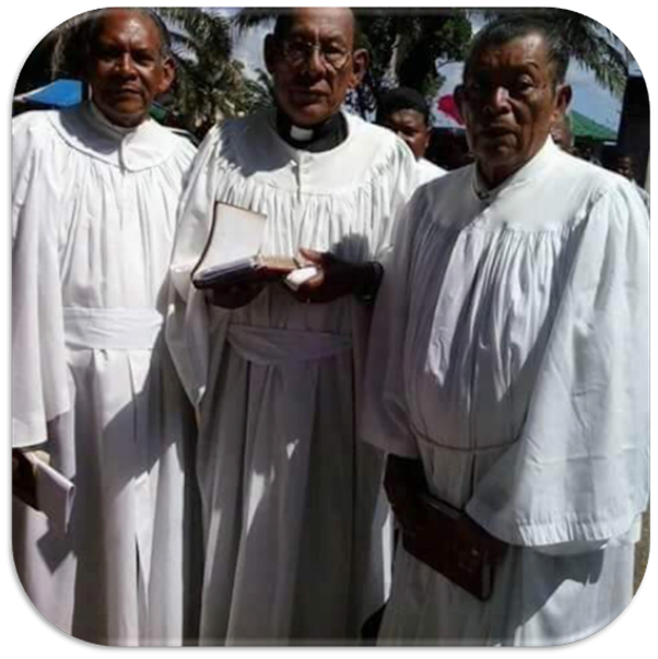 Retired Pastors (L - R) Rev. Santos Cleban, Rev. Higinio Morazan (passed away) Rev. Serminio Nicho