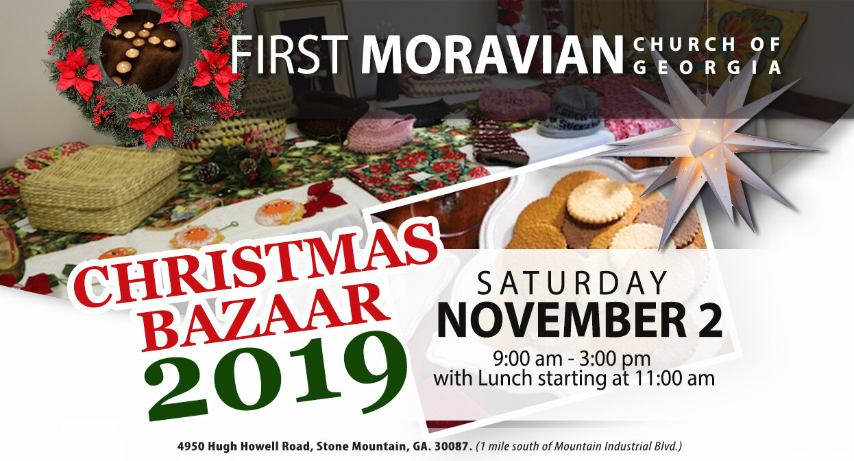 The   Women Fellowship 2019 Christmas Bazaar  . Hope to see you there!
