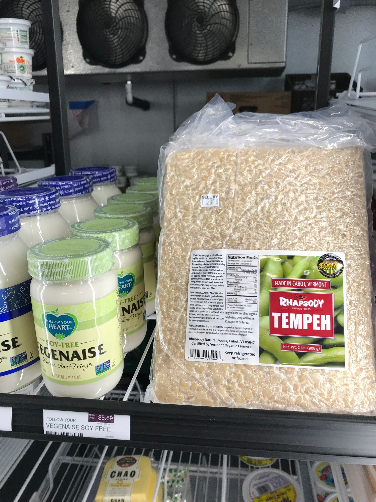 Find the tempeh mentioned in this post in the regrigerated section!