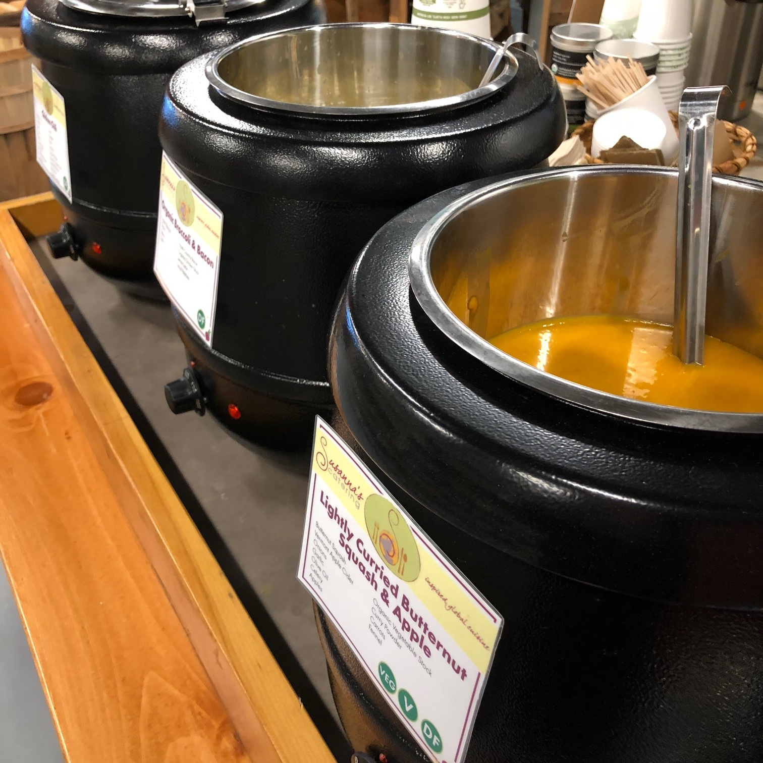 MoCo Cafe - Fresh soups are made daily in the Cafe at MoCo(vegan/vegetarian, hearty) Call to find out what we have (802)888-2255Fresh brewed local coffee is available anytime, and we have fresh-baked breads and other baked goods delivered daily to enjoy on-the-spot or to take home for your family.