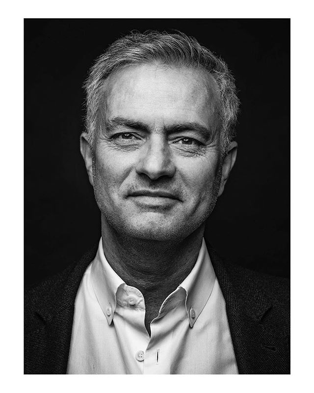Another repost from this fantastic series by @tommyophoto ・・・ Last one then from my shoot for @coachesvoice with the special one, Jose Mourinho. The man is famously known for his seriousness and intensity but I've yet to meet a subject who won't crack in the spotlight of my irresistible charm. THIS IS FACT. Shout out to @holephoto on lights @joe.digital on finish and long time legends @tonyhodson79 and @johnmahood #josemourinho #thespecialone #coachesvoice