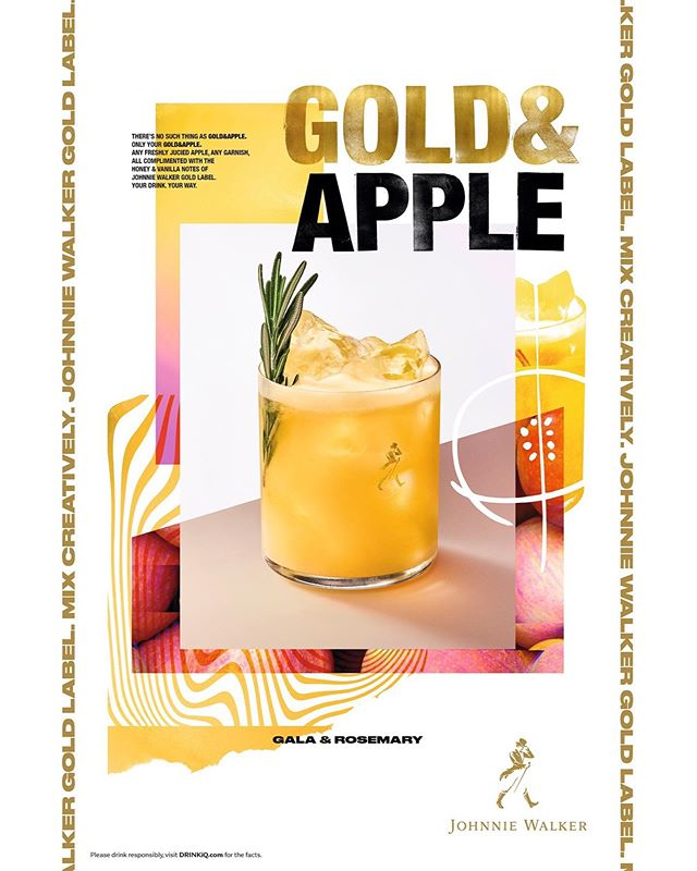 Two more delicious cold ones with Johnnie Walker gold label - Ace photography by @addiechinn - design/ad by Something.