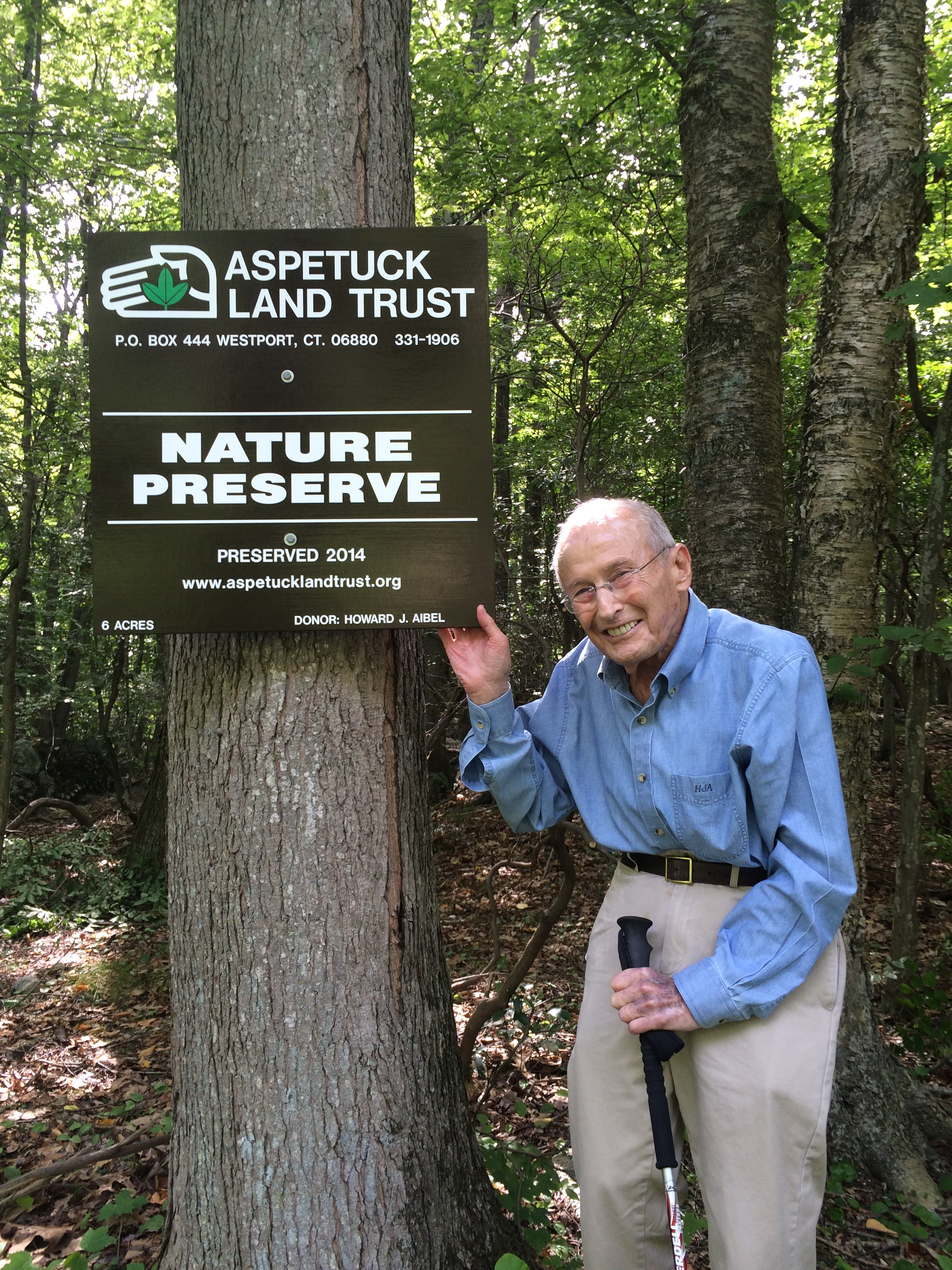 Gift of Land - I donated 6 acres of land to Aspetuck Land Trust to preserve the woodlands which inspired my wife and me to move to Weston many years ago. I also wanted to support the land trust's efforts to take care of the donated property... Read MoreHoward Aibel, Weston