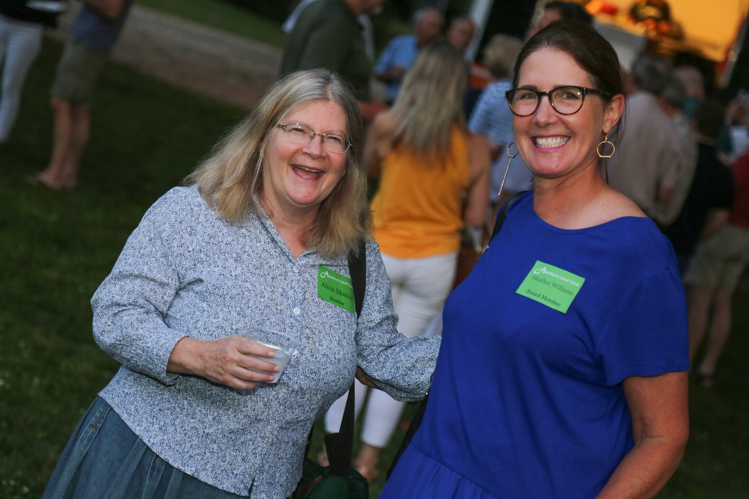 Alicia Mozian, Conservation Director-Town of Westport, and Heather Williams, Aspetuck Land Trust Board of Director.