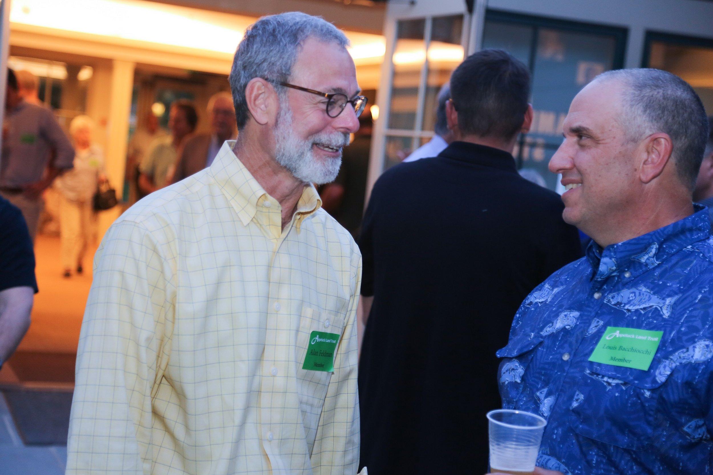 Member, Alan Feldman with Lou Bacchiochi.