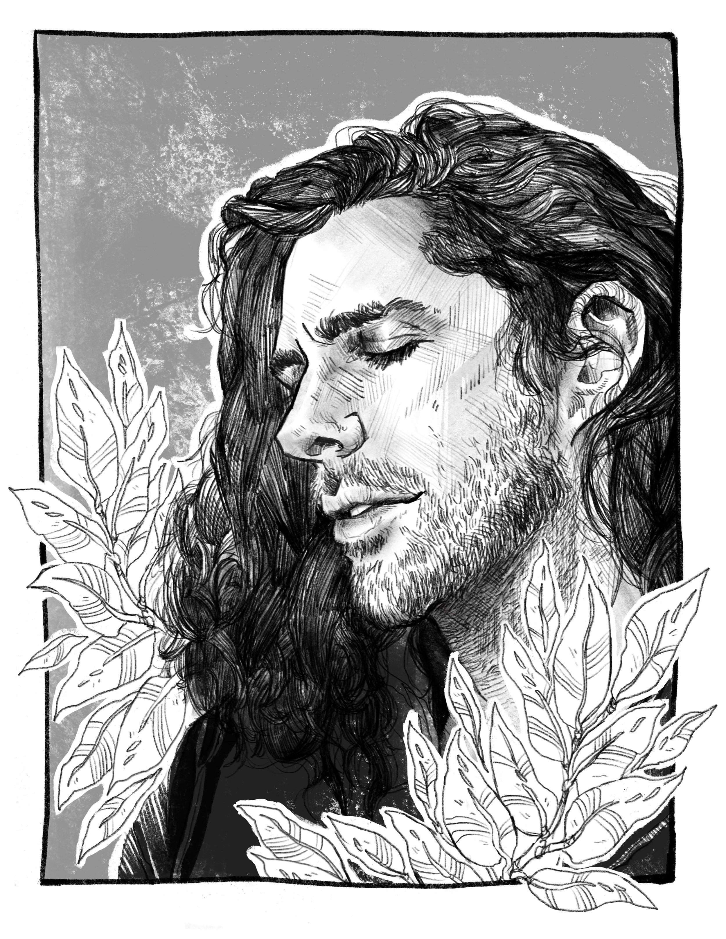 HOZIER   My dearest love I'm not done yet  Portrait of musician Andrew Hozier Byrne