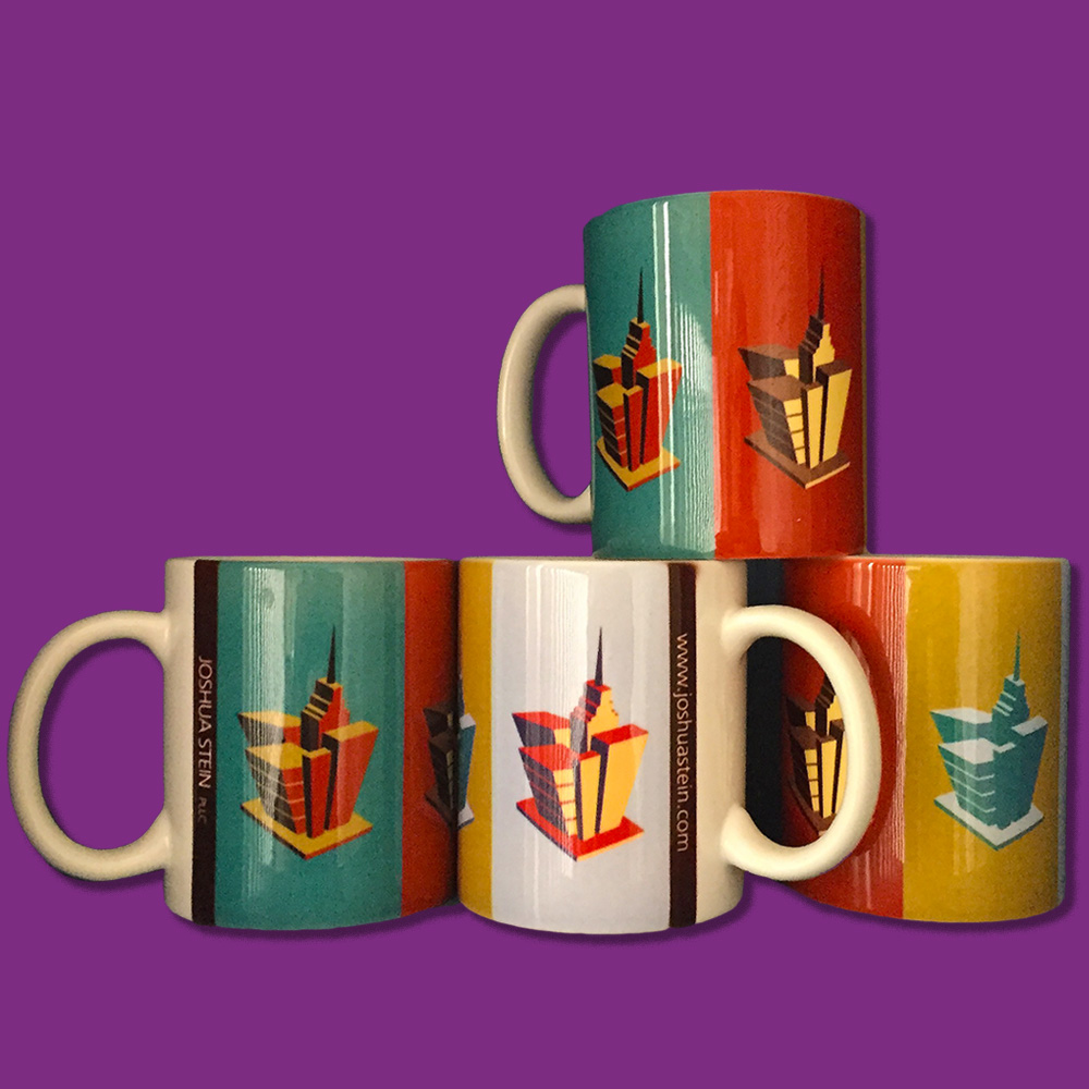 Custom-designed mugs